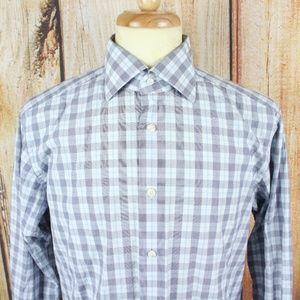 Ermenegildo Zegna Men's Dress Shirt 16 Grey